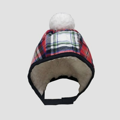 Baby Plaid Bonnet with Sherpa and Pom Hat - Cat & Jack™ 0-6M