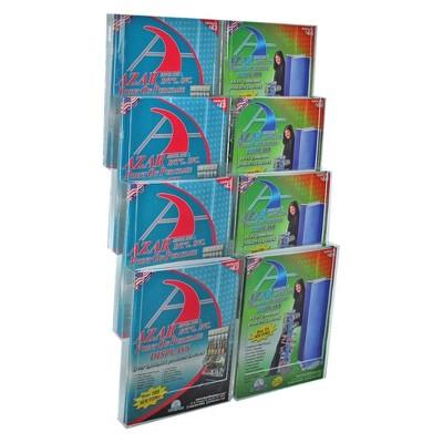 Azar Eight-Pocket Letter Wall Mount Brochure Holder