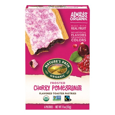 Nature's Path Organic Toaster Pastries Frosted Cherry Pomegranate - 6ct