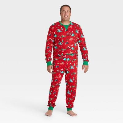 Men's Holiday Dino Print Pajama Set - Wondershop™ Red