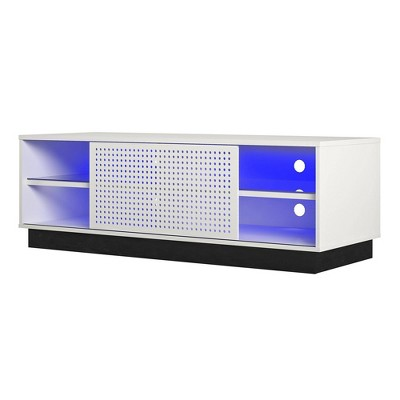 """Up To 60"""" Glitch Gaming Tv Stand For Tvs White - NTENSE"""