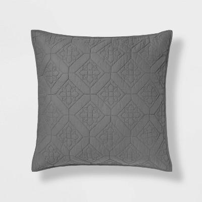 Embroidered Cotton Quilt Sham - Threshold™