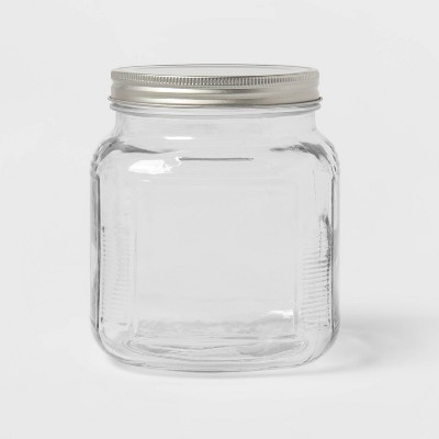 32oz Glass Jar and Metal Lid - Threshold™
