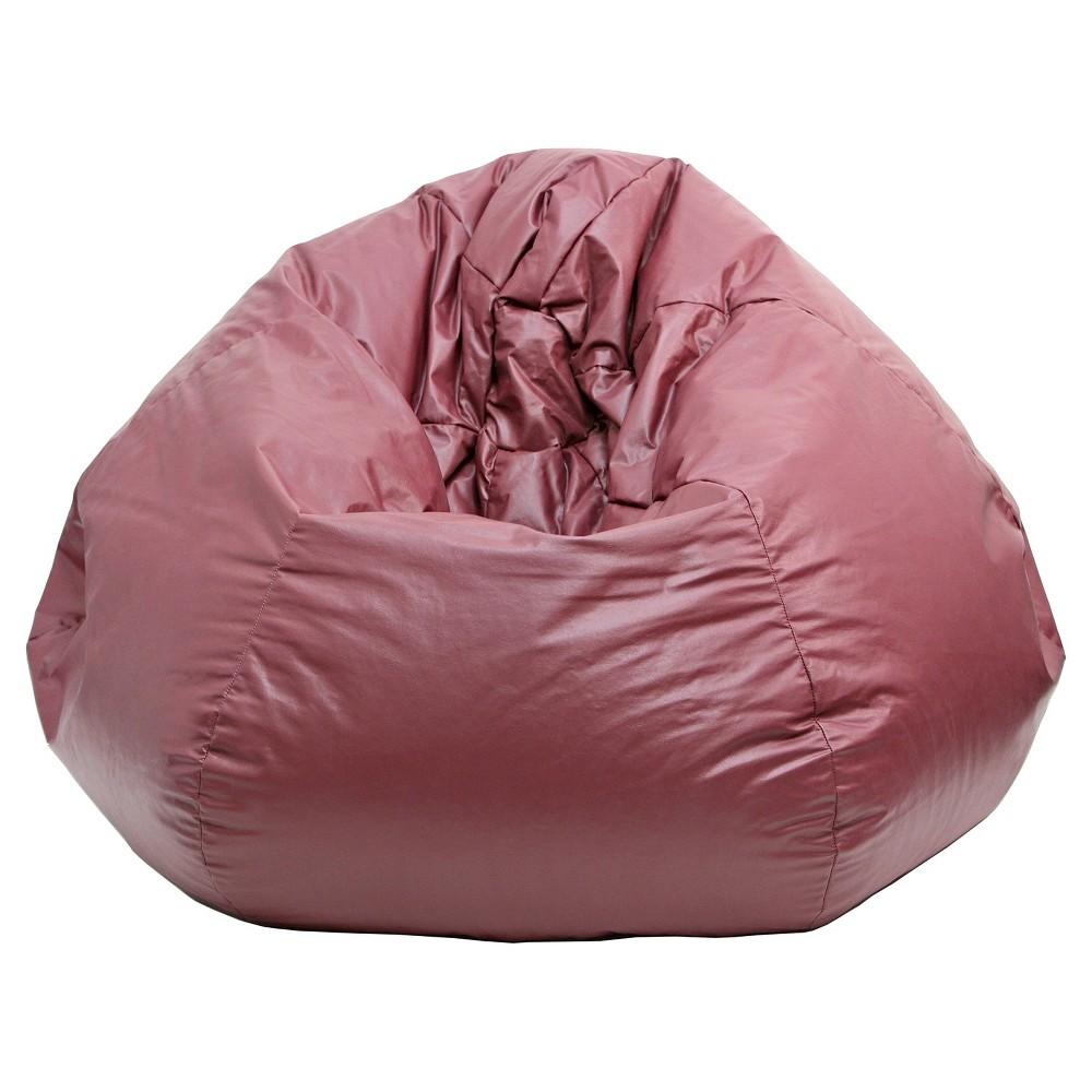 Medium Vinyl Bean Bag Chair - Wine (Red) - Gold Medal