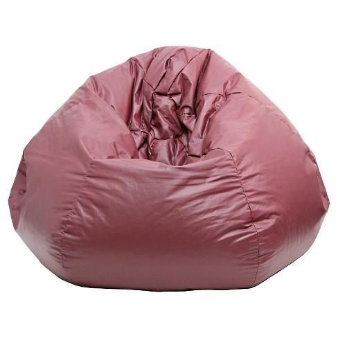 Medium Vinyl Bean Bag Chair - Wine - Gold Medal - image 1 of 2