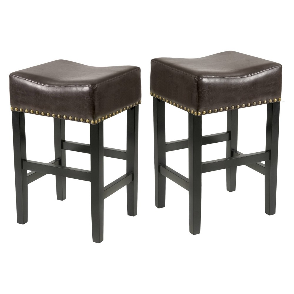 Set of 2 Louigi 30 Barstool Brown - Christopher Knight Home was $148.99 now $96.84 (35.0% off)