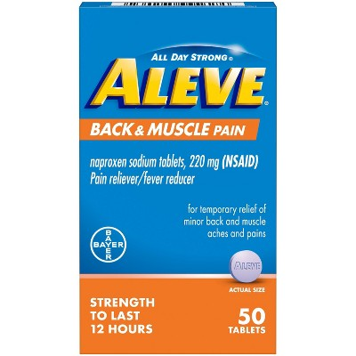 Aleve Acetaminophen Back and Muscle Pain Tablet (NSAID) - 50ct