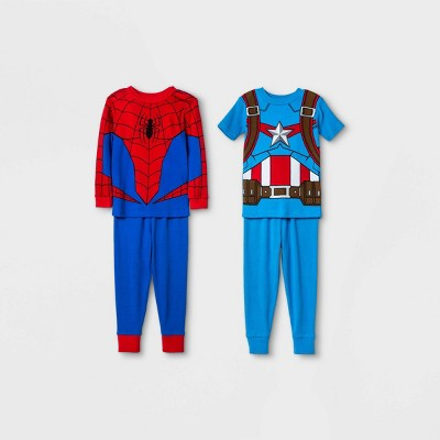 Toddler Boys' 4pc Marvel Snug Fit Pajama Set - Red