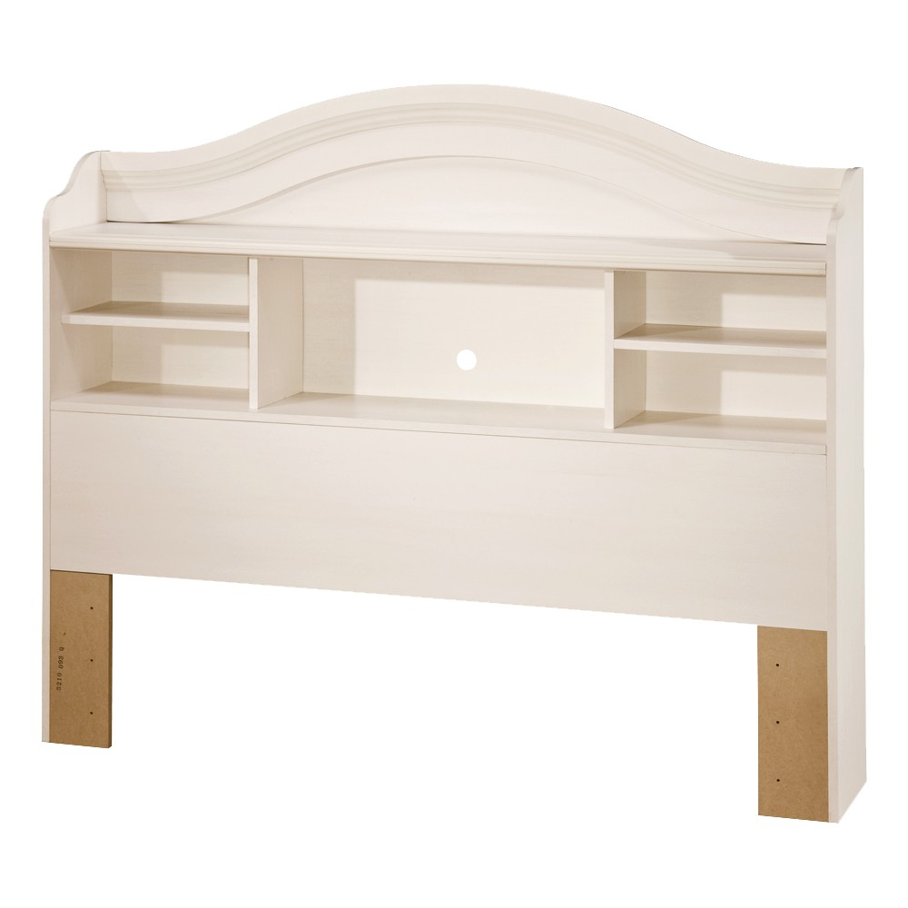Bookcase Kids Headboard Vanilla (Full) - South Shore