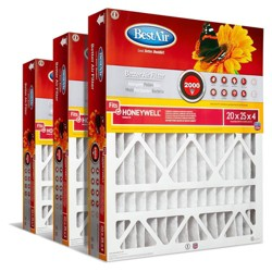 BestAir 3pk Honeywell 20X25X4 Replacement Air Furnace Filter Merv 11