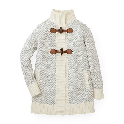 Hope & Henry Girls' Sweater Coat with Toggles, For Kids