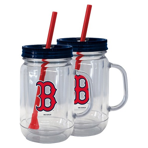 Boelter Brands MLB Boston Red Sox Set of 2 Handled Straw Tumbler - 20oz - image 1 of 1