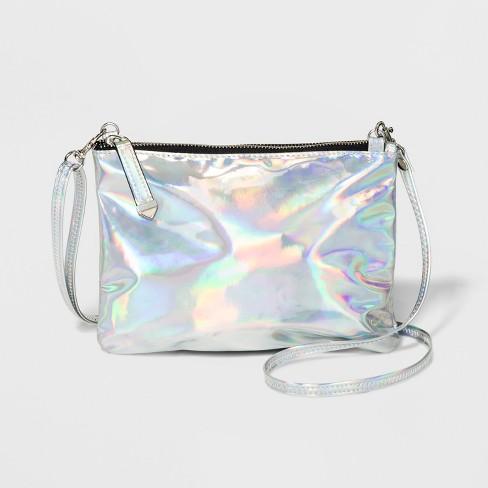 Iridescent Crossbody Bag Wild Fable Silver
