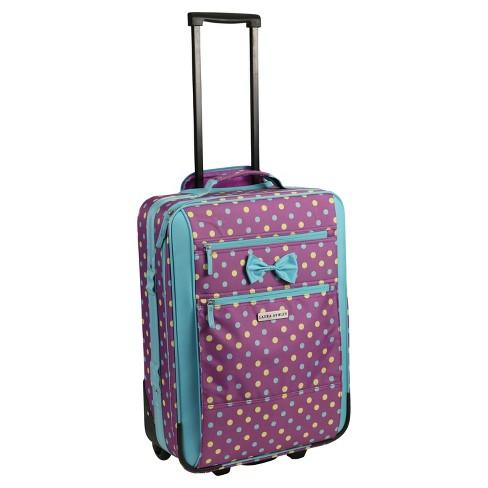 "Laura Ashley 19"" Rolling Suitcase - Polka Dot Print - image 1 of 4"
