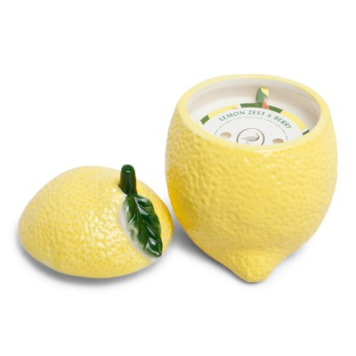 6oz Ceramic Figural Jar Candle Lemon Zest & Berry - Fruit Collection - Opalhouse™