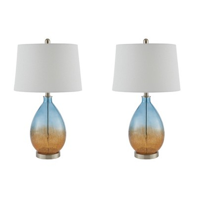 2pc Cortina Table Lamp (Includes Energy Efficient Light Bulb)Blue