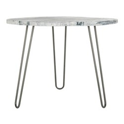 Mindy Wood Top Dining Table White - Safavieh