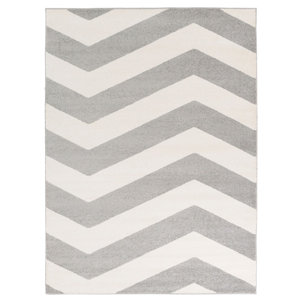 Black Abstract Tufted Area Rug - (5'3