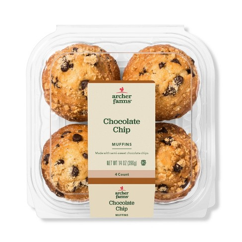 Chocolate Chip Muffins - 4ct/14oz - Archer Farms™ - image 1 of 1