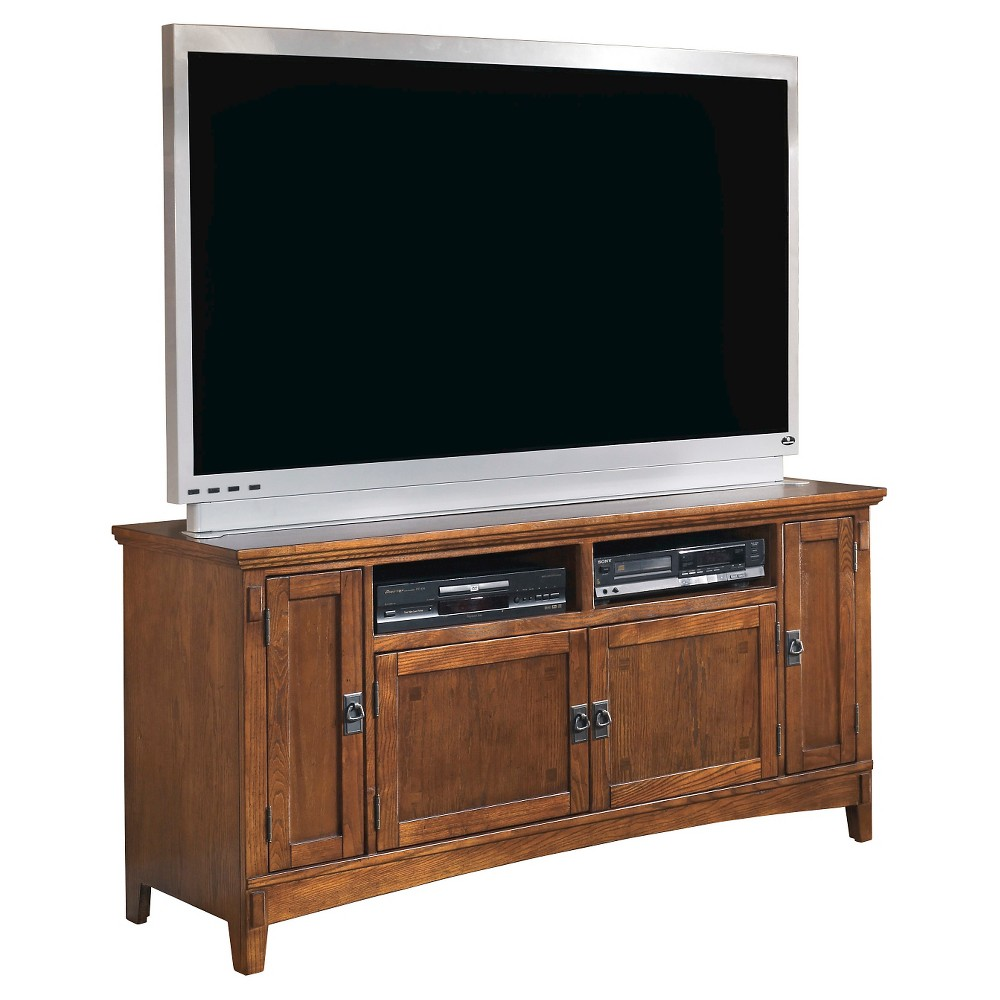Cross Island Large TV Stand Medium Brown 60 - Signature Design by Ashley, Red