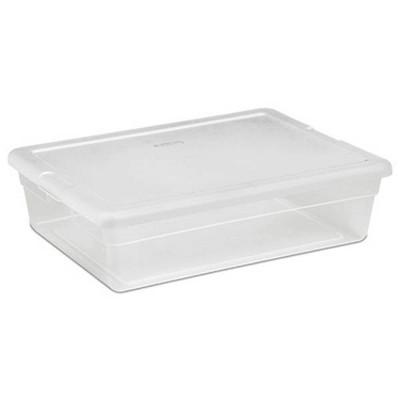 Sterilite 28 Qt Clear Closet/Under Bed Organizer Storage Box Container (30 Pack)