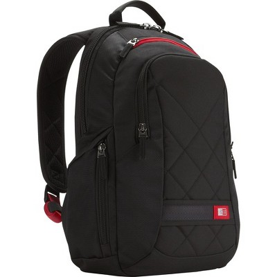 """Case Logic DLBP-114 Carrying Case (Backpack) for 15"""" Notebook - Black - Scratch Resistant - Polyester - Shoulder Strap"""