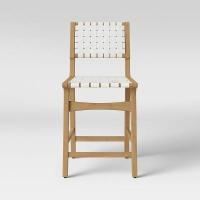 Ceylon Woven Counter Stool White/Natural - Opalhouse™