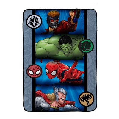 Marvel Avengers Full Bed Blanket Gray