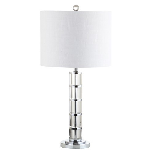 """26"""" Hailey Crystal LED Table Lamp Clear (Includes Energy Efficient Light Bulb) - JONATHAN Y - image 1 of 4"""