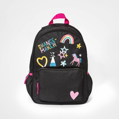 Kids' Embroidery Backpack - Cat & Jack™ Black