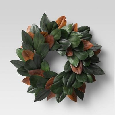 "21.25"" Preserved Magnolia Wreath - Threshold™"