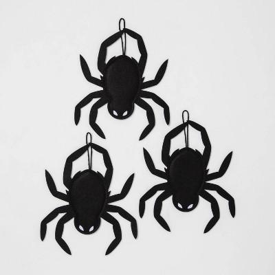 3pk Felt Hanging Spider Halloween Decorative Prop - Hyde & EEK! Boutique™