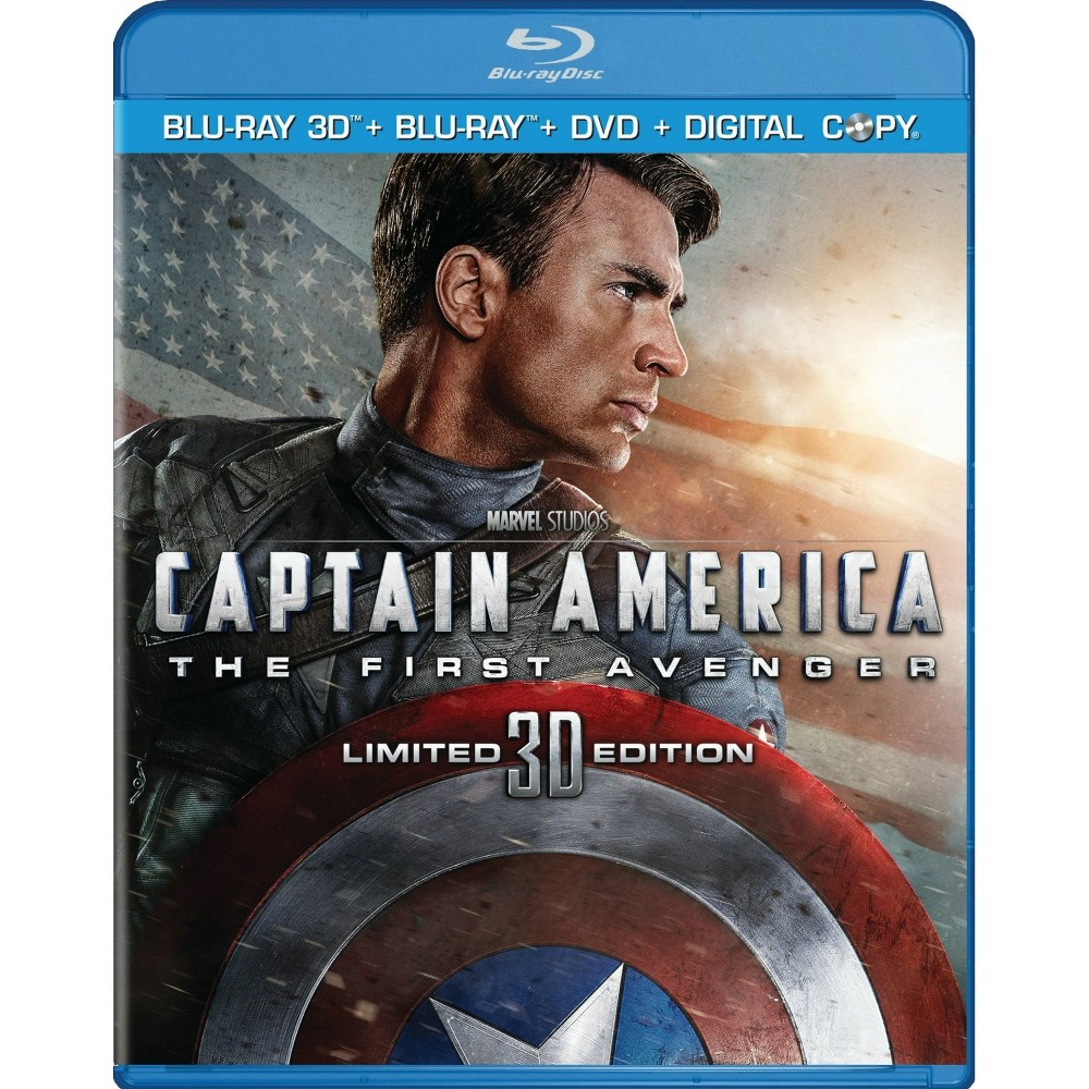 Captain America: The First Avenger [3 Discs] [Includes Digital Copy] [3D/2D] [Blu-ray/Dvd]