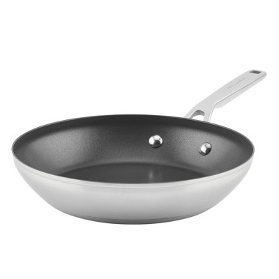 "KitchenAid 3-Ply Base Stainless Steel 9.5"" Nonstick Frying Pan"