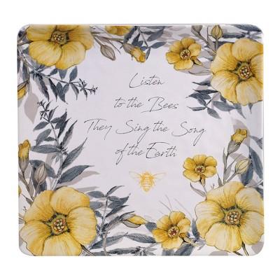 """12.5"""" Earthenware Sweet As A Bee Serving Platter - Certified International"""