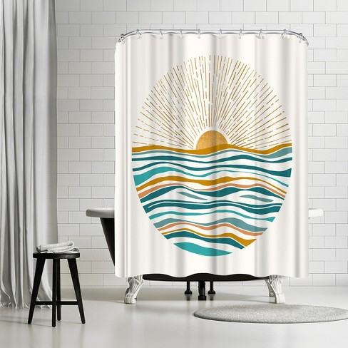 Americanflat California Sunset By Modern Tropical 71 X 74 Shower Curtain Target