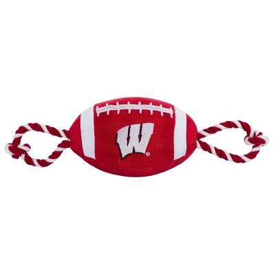 NCAA Wisconsin Badgers Nylon Football Dog Toy