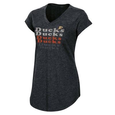 NHL Anaheim Ducks Women's Team Pride V-Neck T-Shirt - L