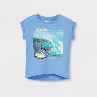 Girls' Disney Stitch Short Sleeve T-Shirt - Blue
