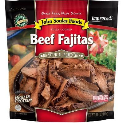 John Soules Foods Fully Cooked Beef Fajitas - Frozen - 12oz