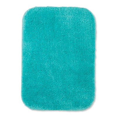24 x17  Solid Bath Rug Turquoise - Room Essentials™