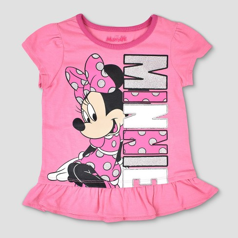 adf55ac4325 Toddler Girls  3pk Disney Mickey Mouse   Friends Minnie Mouse Short Sleeve T -Shirt - Pink Gray   Target