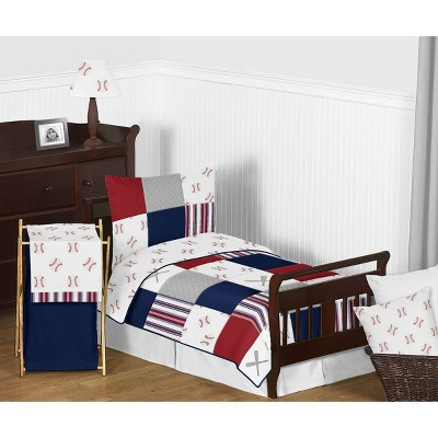 5pc Baseball Patch Toddler Bedding- Sweet Jojo Designs