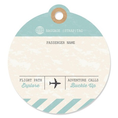 Big Dot of Happiness World Awaits - Travel Themed Party Favor Gift Tags (Set of 20)