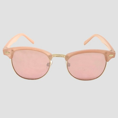 Women's Clubmaster Sunglasses - Pale Pink - image 1 of 2