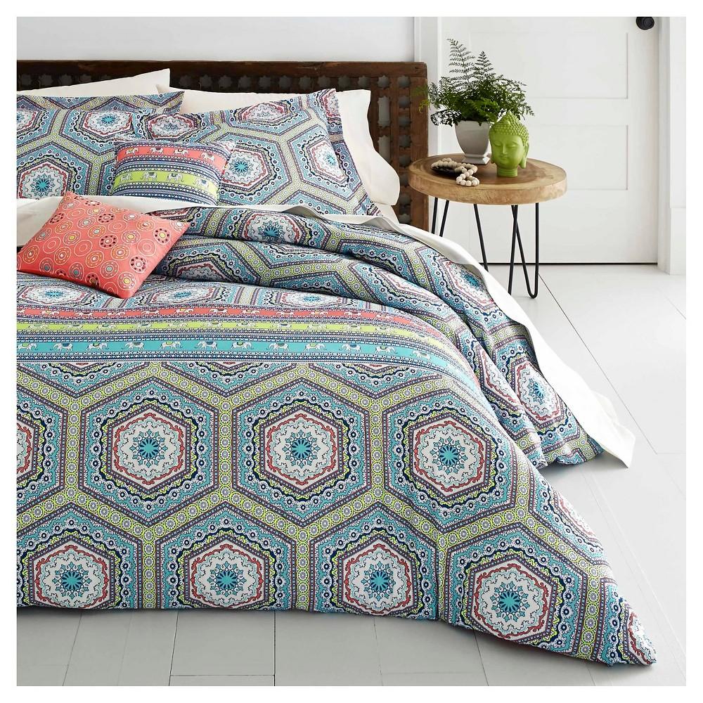 3pc Full/Queen Sumatra Medallion Comforter Set Turquoise - Azalea Skye, Multicolored Blue
