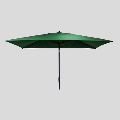 10' x 6' Rectangular Patio Umbrella Forest - Black Pole - Threshold™