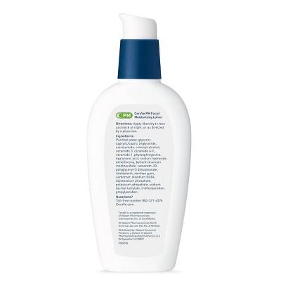 CeraVe PM Facial Moisturizing Lotion for Nighttime Use Ultra Lightweight Night Cream - 3 fl oz