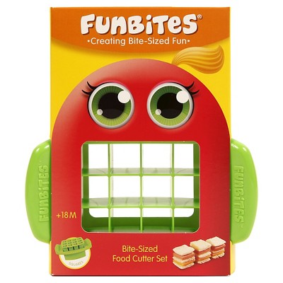 FunBites Food Cutter - Green Squares