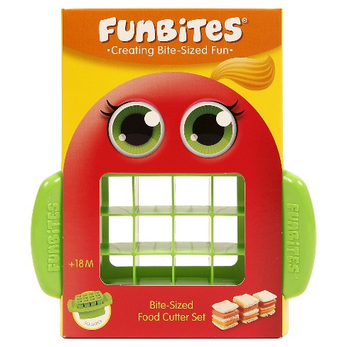 FunBites Food Cutter - Green Squares - image 1 of 5